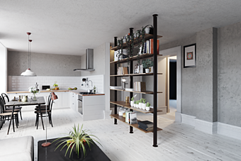 Стеллаж Damiano Latini COLLECTION 2018 - 2019 Vertical line