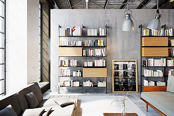 Стеллаж Damiano Latini COLLECTION 2018 - 2019 GIOSTRA L